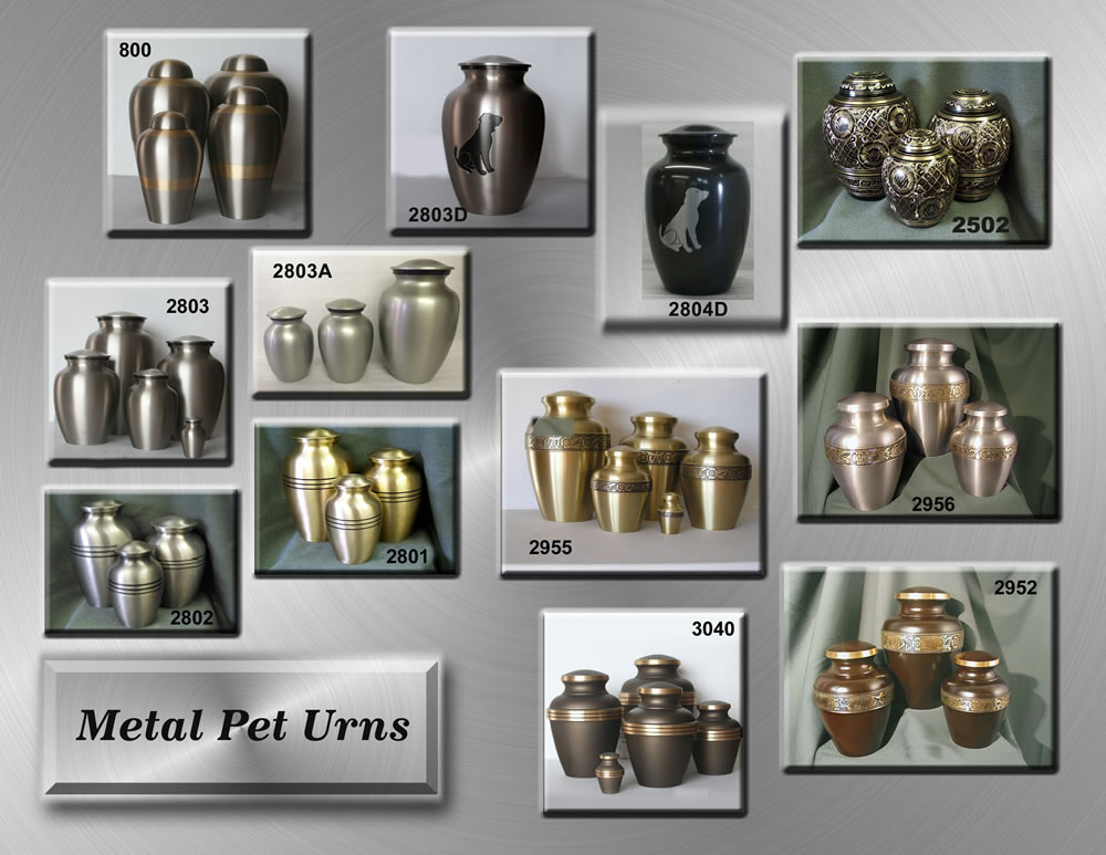 Metal India Pet Urns