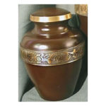 Pet Urns by HTW - Urns for pets, dogs, cats, loss, death, jewelry, ashes, retail, wholesale, minnesota, united states, vet clinic, veterinarian, family pets, Avalon in Mahogany, Bronze and Pewter Pet Urn
