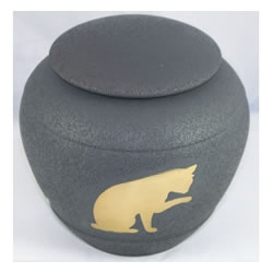 Pet Urns by HTW - Urns for pets, dogs, cats, loss, death, jewelry, ashes, retail, wholesale, minnesota, united states, vet clinic, veterinarian, family pets, Cat Silhouette Pet Urn