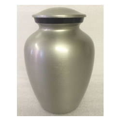 Pet Urns by HTW - Urns for pets, dogs, cats, loss, death, jewelry, ashes, retail, wholesale, minnesota, united states, vet clinic, veterinarian, family pets, Pewter with Slate Band Aluminum Pet Urn
