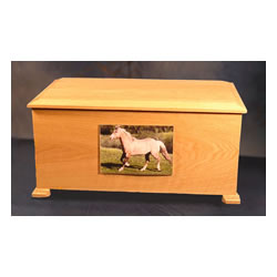 Pet Urns by HTW - Urns for pets, dogs, cats, loss, death, jewelry, ashes, retail, wholesale, minnesota, united states, vet clinic, veterinarian, family pets - Recency Equine Horse Wood Pet Urns