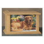 Pet Urns by HTW - Urns for pets, dogs, cats, loss, death, jewelry, ashes, retail, wholesale, minnesota, united states, vet clinic, veterinarian, family pets - SP Series Photo Engraved Image Wood Pet Urns